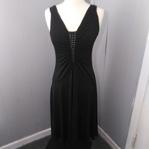 Parallel Date Night Black Dress Mid-Length